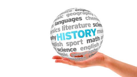 History word Sphere Stock Video Footage