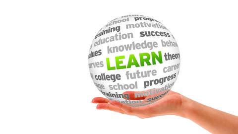 Learn Word Sphere Stock Video Footage