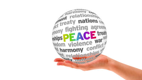 Peace Word Sphere stock footage