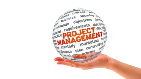 Project Management Word Sphere Stock Video Footage