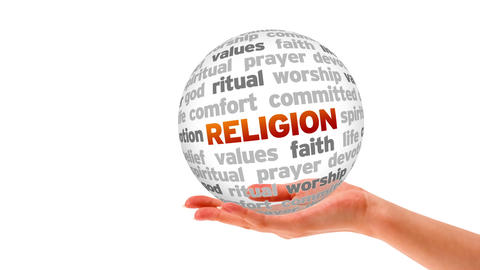 Religion Word Sphere Stock Video Footage