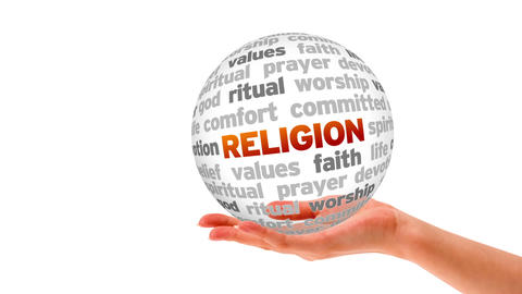 Religion Word Sphere Animation