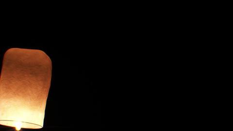 Beautiful Single Paper Lantern flying Slow. HD 108 Stock Video Footage