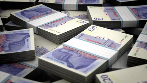 Million Pound Background Stock Video Footage