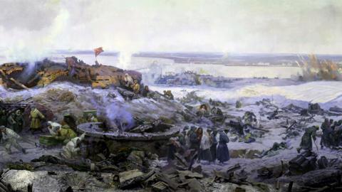 battle near Stalingrad part 3 Stock Video Footage