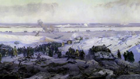 battle near Stalingrad part 5 Stock Video Footage