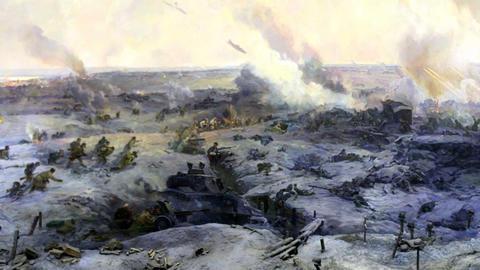 battle near Stalingrad part 7 Stock Video Footage