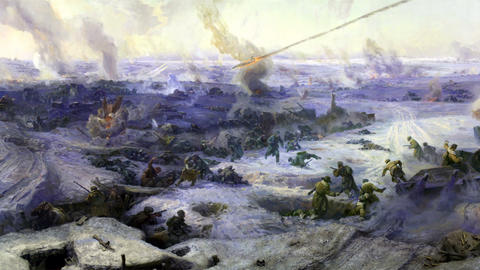 battle near Stalingrad part 9 Footage