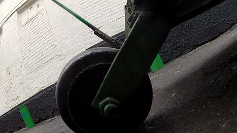 Wheel hand carts Stock Video Footage