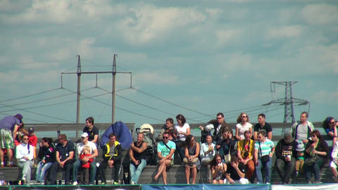 Spectators and supporters Footage