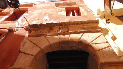 An ancient Roman arch in the old town Stock Video Footage