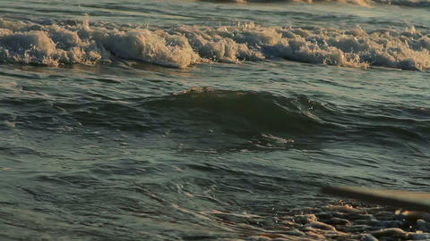 The beach at sunset Stock Video Footage