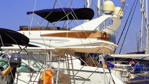 yachts at berth Footage