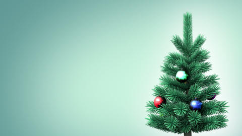 Christmas tree background Stock Video Footage