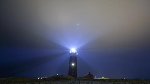 4k UHD Lighthouse bad weather wide time laps 11235 Stock Video Footage