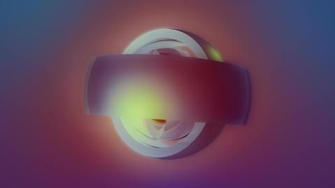 glow ball vignette Stock Video Footage
