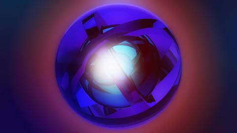 vignette orbits ball Stock Video Footage