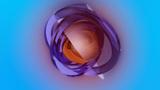 spherical rings rotating Stock Video Footage