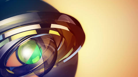 Futuristic Robotic Sphere stock footage