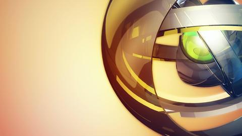 futuristic robotic sphere Stock Video Footage