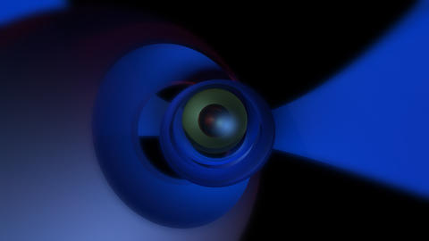 orbital eye ball with alpha Stock Video Footage