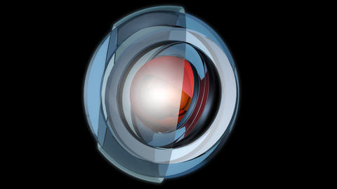 spherical glossy spin with alpha Stock Video Footage