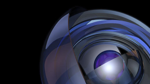 futuristic glossy sphere with alpha Stock Video Footage