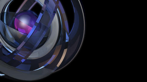 futuristic glossy sphere with alpha Animation