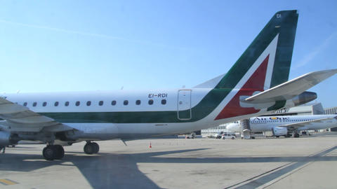 Roma airport – Alitalia Stock Video Footage