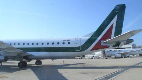 Roma airport – Alitalia Footage
