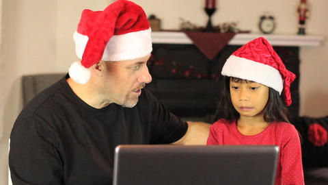 Christmas Online Shopping For Mommy Stock Video Footage