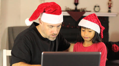 Christmas Online Shopping For Mommy Footage