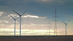 Wind Energy Power Plant stock footage