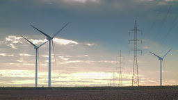 Wind energy power plant Stock Video Footage