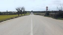Lonely country road Stock Video Footage