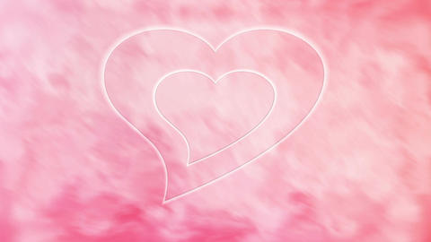 Pink Heart stock footage