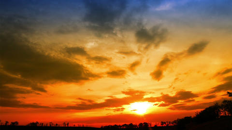 Sunset - Timelapse stock footage