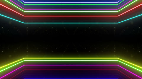 Neon tube R b E 5h HD Stock Video Footage
