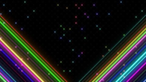 Neon tube R b F 5h HD Stock Video Footage