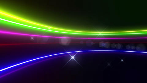 Neon tube R c C 5h HD Stock Video Footage