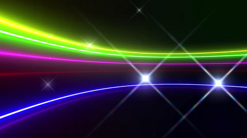 Neon tube R c C 5h HD Stock Video Footage