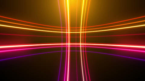 Neon tube R c D 5h HD Stock Video Footage