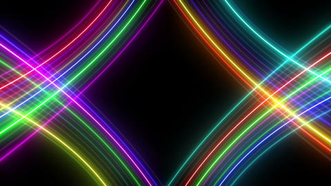 Neon tube R c G 5h HD Stock Video Footage