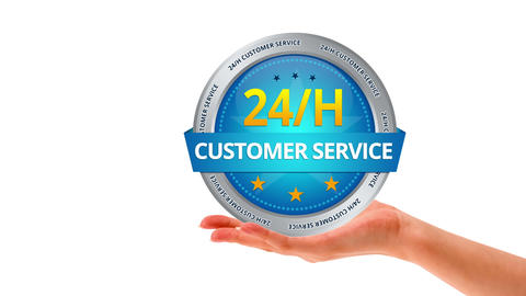 24h Customer Service Animation