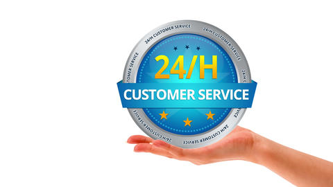 24h Customer Service Stock Video Footage