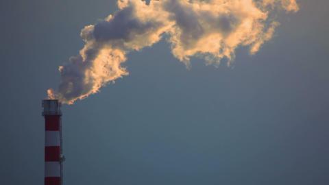 Smoke at sunset ビデオ