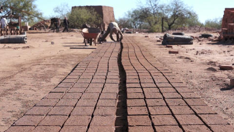 Adobe Brick Making Far Dolly Footage