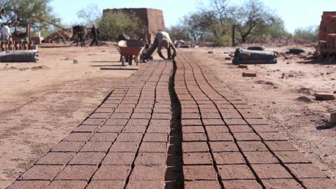 Adobe Brick Making Far Dolly Footage