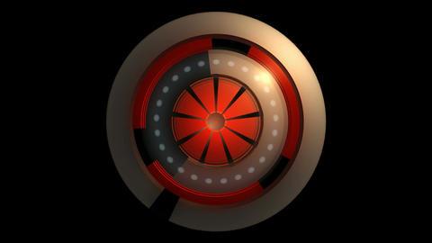 glowing reactor orbits Stock Video Footage