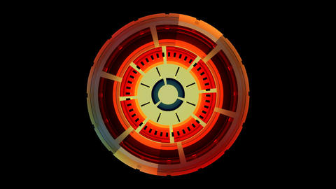 colorful spinning compass Stock Video Footage